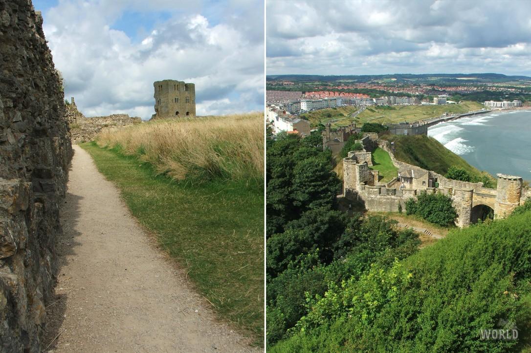 Scarborough castle panorama