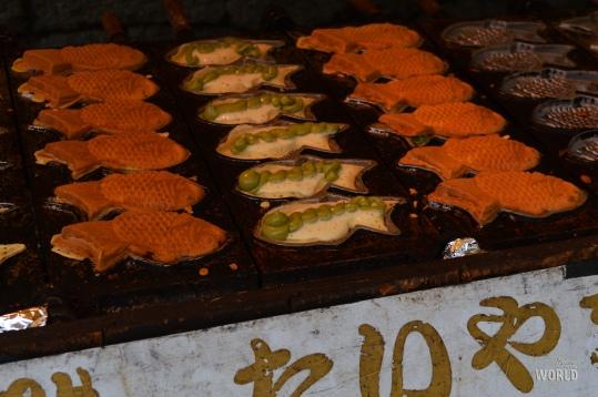 Tayaki in preparazione vicino a Fushimi Inari