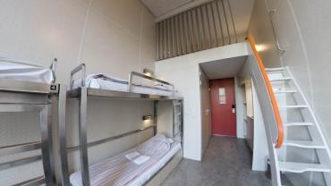 Panoramica di una camerata con soppalco come quella dove ho dormito. Fonte: TripAdvisor.