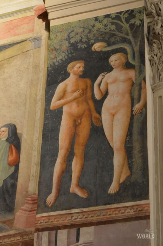 La Tentazione di Adamo ed Eva - Masolino