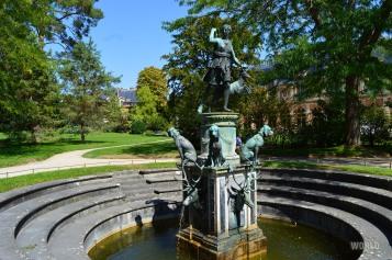 La fontana di Diana che dà il nome al Giardino Privato